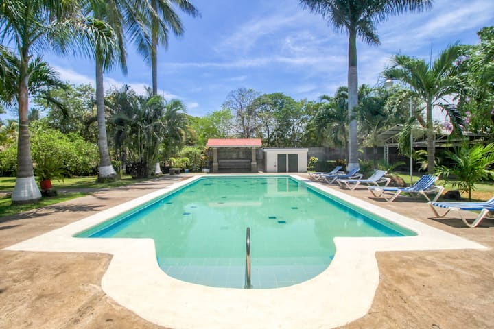 New listing! Villa w/ shared pool & beautiful gardens - walk to the beach!