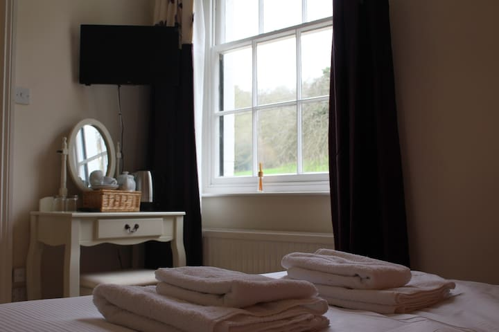 Double Room ensuite with shower at Rhydspence Inn