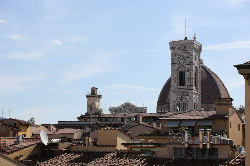 The view of Duomo from the terrace