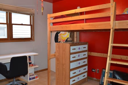 Red Room Loft Bed Shared Bath - Chicago