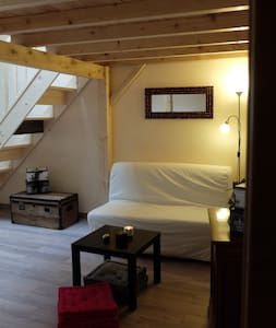 Mezzanine dans maisonnette lumineuse - Şehir evi
