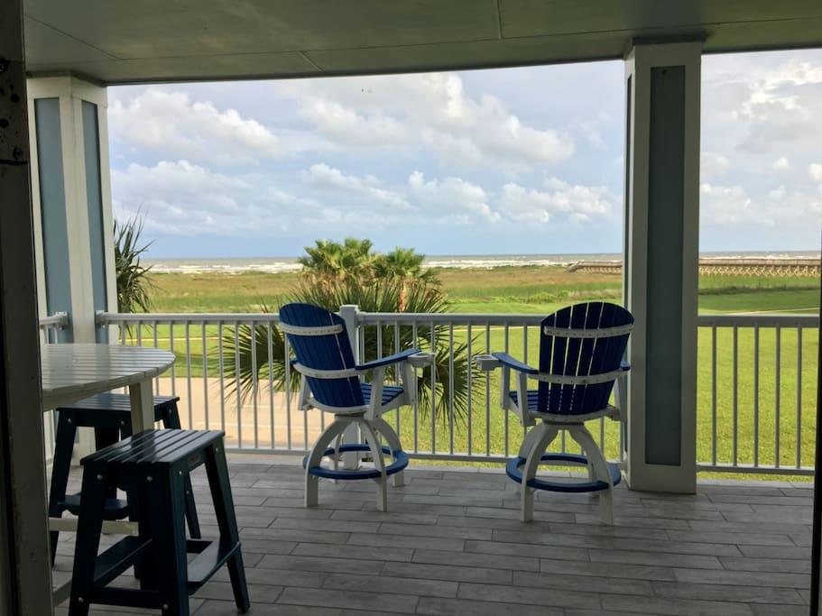 Balcony with Beachfront Views of the Beach & Gulf
