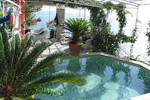 Pool with terrace and views of the Adriatic Sea