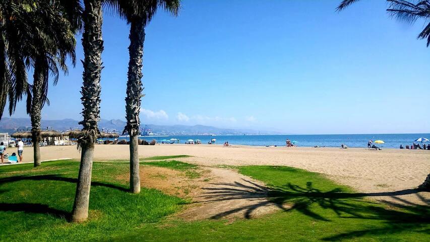 Playa del Misericordia,frente a casa.