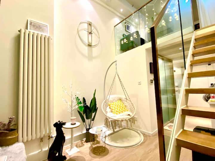 【高端轻奢品质】南法信 首都机场 新国展Loft投影复式公寓 建筑设计师打造