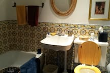 Downstairs bathroom with bath (no shower)
