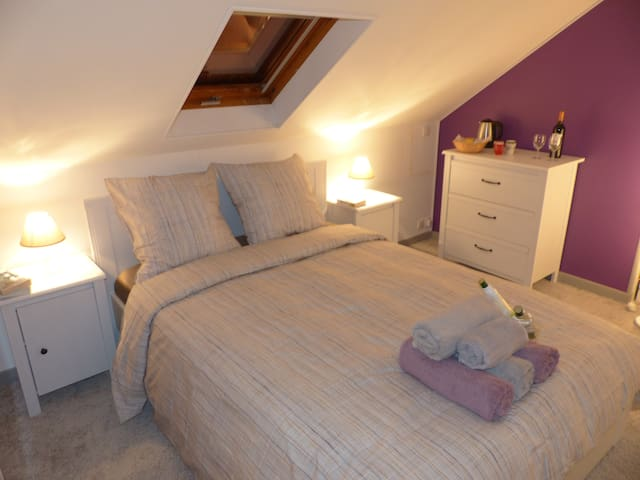 Cozy 4-person bedroom / Disneyland - Saint Germain sur Morin - Casa