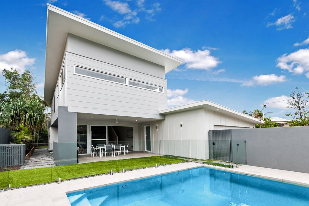 Large & modern with private outdoor pool