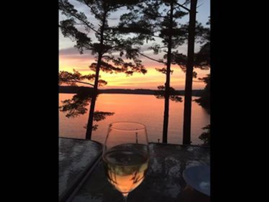 A glass of wine while watching the sunset...not sure it gets any better then this.
