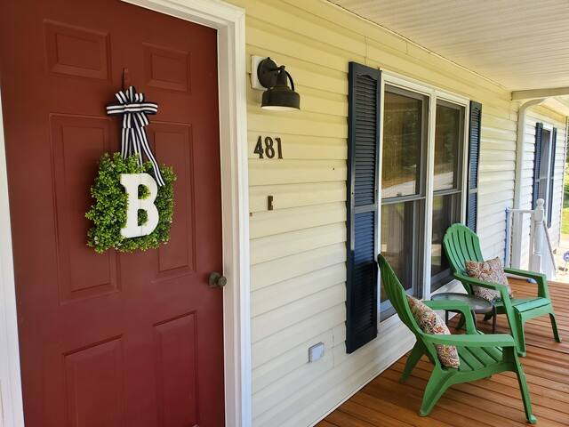 The inviting southern style front porch awaits.