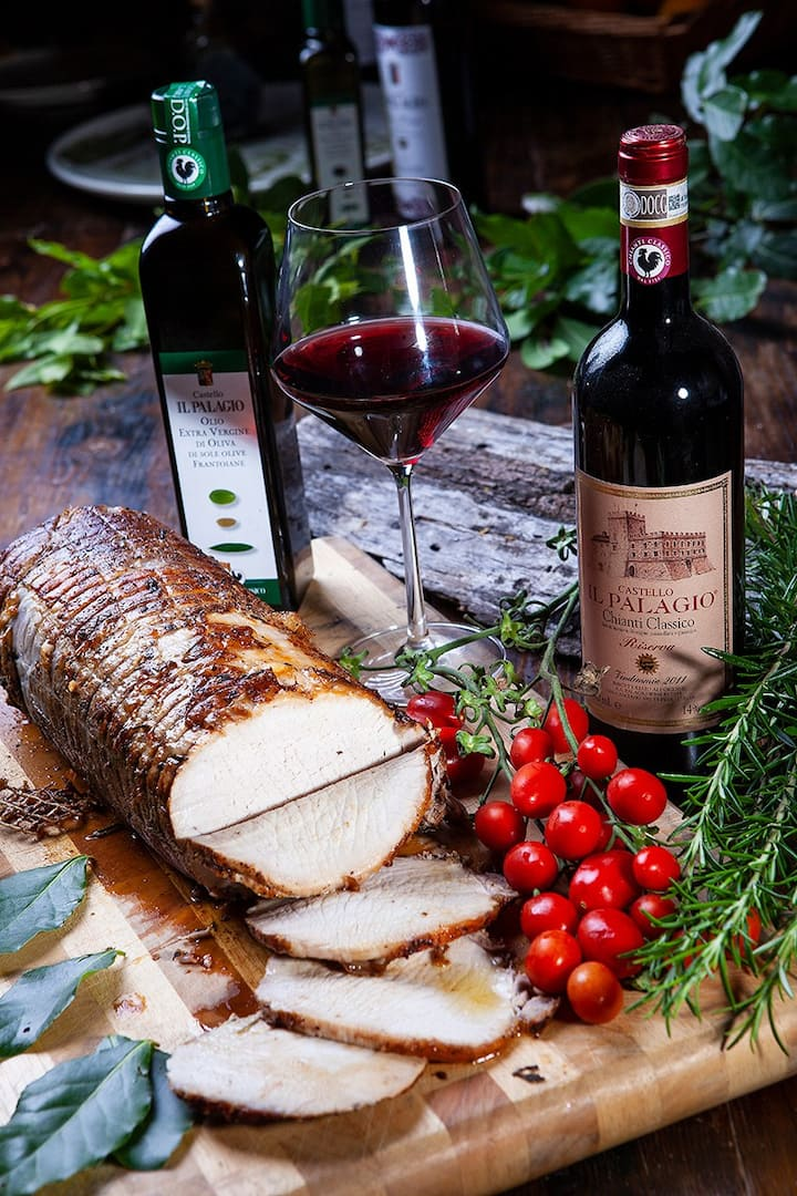 Roasted Pork Roll with Chianti Classico
