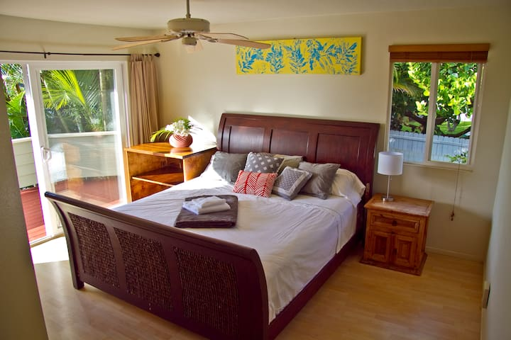 Paia - Private bedroom & own bathroom & oceanview! - Paia - Hus
