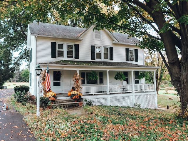 The Orchard House before the front porch was recently renovated