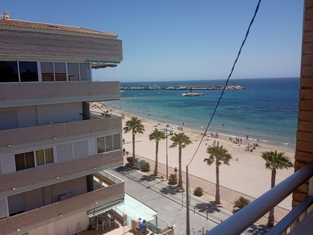 Encantador apartamento en primera línea de playa