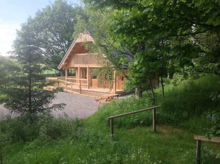 Deveron Lodge Secluded cosy cabin by the river