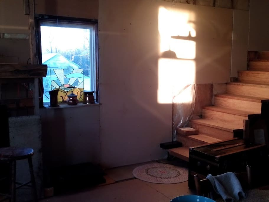 Stairs to the sleeping loft