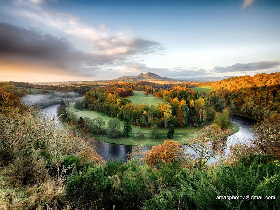The Scottish Borders most recognisable land mark - The Eildon Hills.