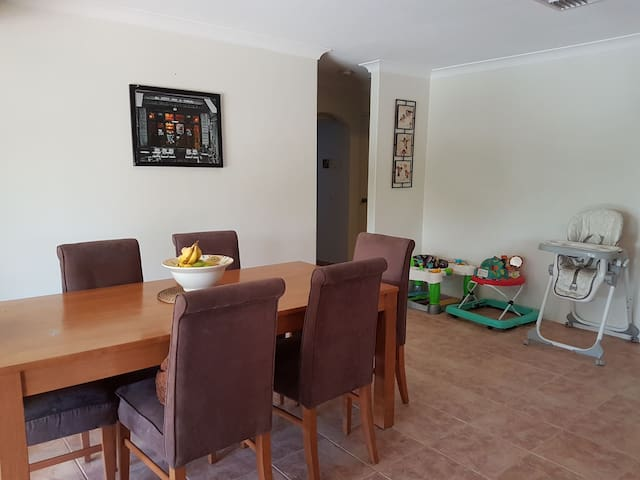 Cosy family home with baby necessities available