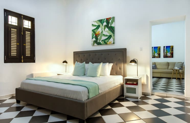 Colonial Suite | 1 Bedroom with direct access to buildings courtyard in Old San Juan