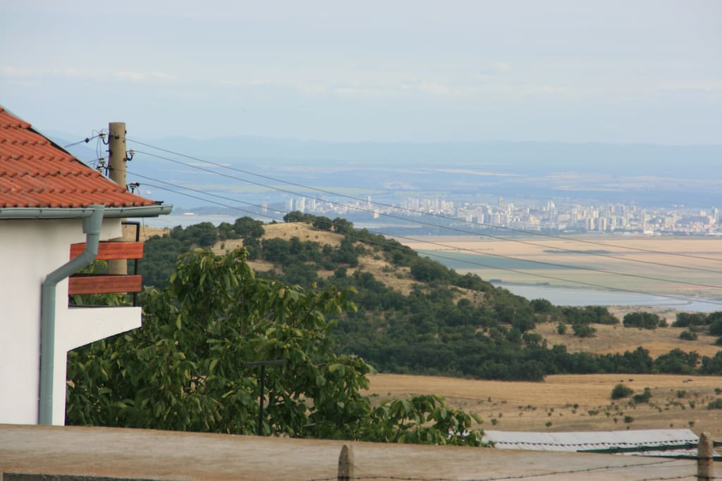 View on Burgas and one of the terasses