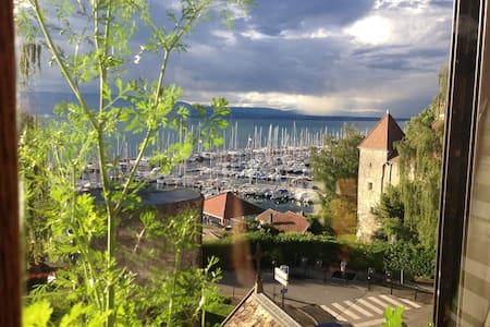 Grand appartement sur le port de Thonon - Thonon-les-Bains - Huoneisto