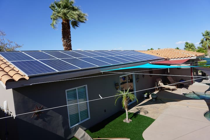 Solar electric and solar pool heater