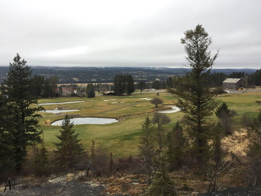 View of the house on the first tee of Mountainside golf course