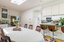 Dining room and open kitchen available for registered guest use up to 9 pm