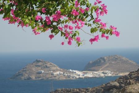 Mykonos Lia 4 bedroom house exquisite views - Kalafati