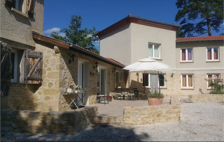 Amazing home in Malegoude with 4 Bedrooms