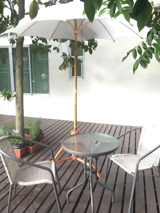 Backyard free space