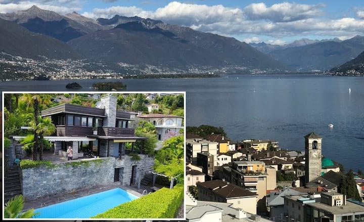 Luxus Poolvilla über Brissago am Lago Maggiore