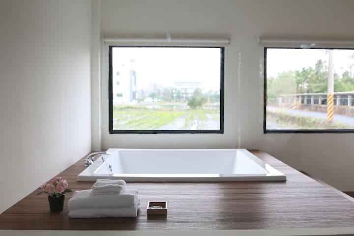 大浴缸二人房(Suite for 2 guests) - 宜蘭縣 - Haus