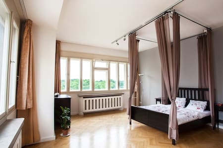 Canopy bed and a view of Prague - Prag