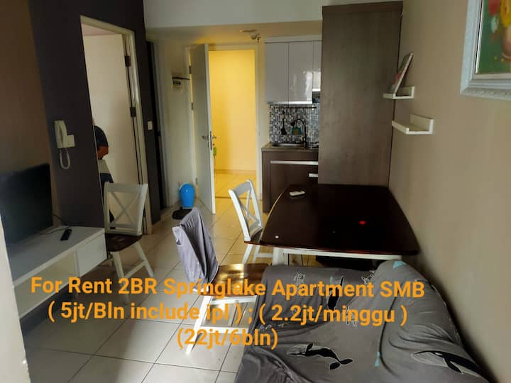 2 Bedroom Full Furnish A1st Springlake Bekasi CBD