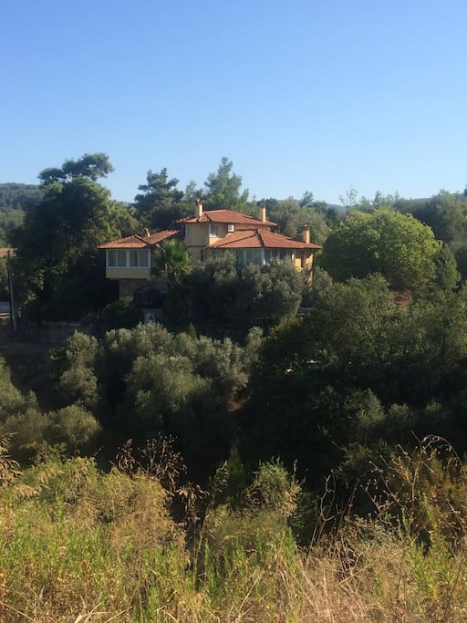 View of the villa from a distance