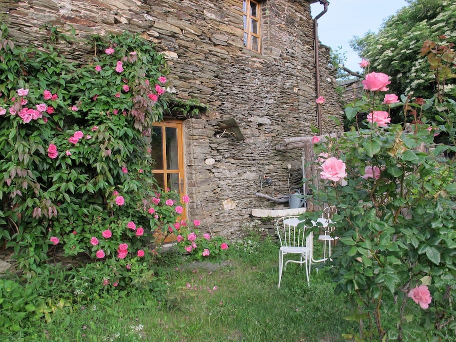 L'entrée de la chambre et sa terrasse