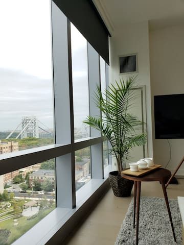 Spacious luxury apartment over looking the GWB