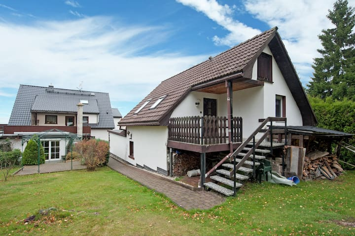 Cosily furnished holiday home in the Vogtland with terrace and swimming pool