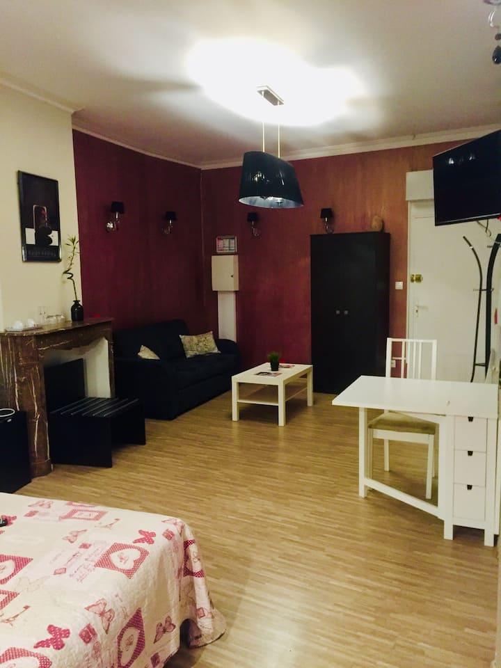 Studio 2 à 4 personnes, sauna privatif