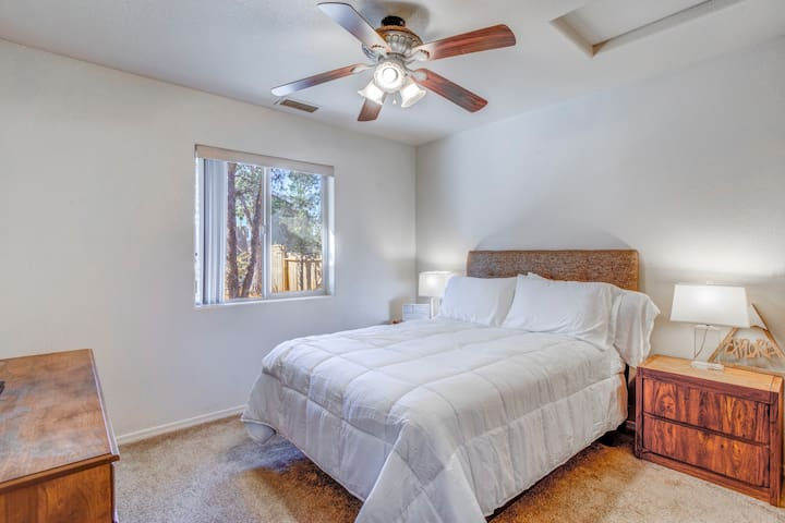 Our next room features a full size bed for two in our second guest room. Topped with duvet comforter and 2 ultra soft gel pillows!