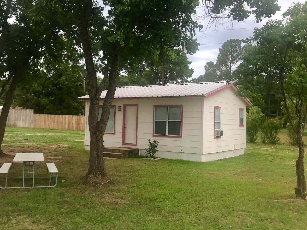 Rose Cabin at Texas Hills RV Haven on Lake Buchanan - sleeps 5