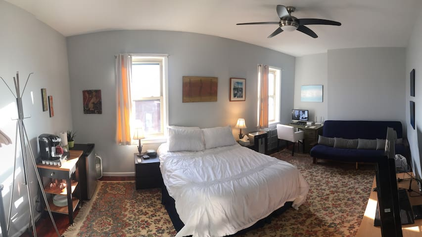3rd floor bedroom on the best block in Fishtown