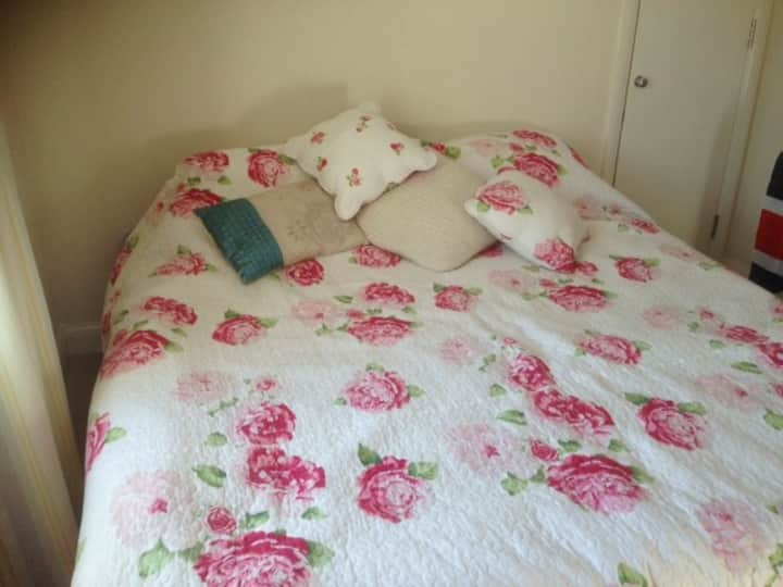 Beautiful large room with comfortable double bed