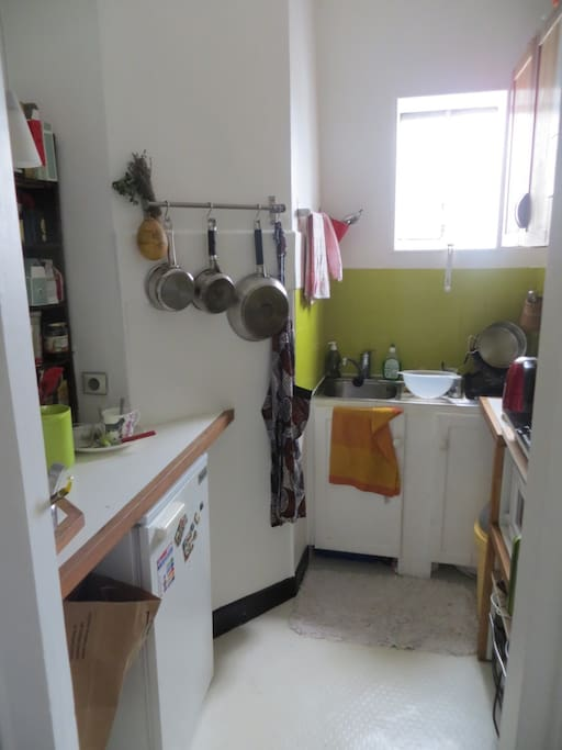 tiny but well equipped kitchen