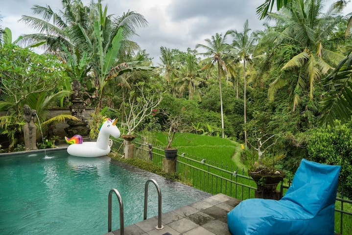 Enchanted Jungle Villa. 3br with magic pool views