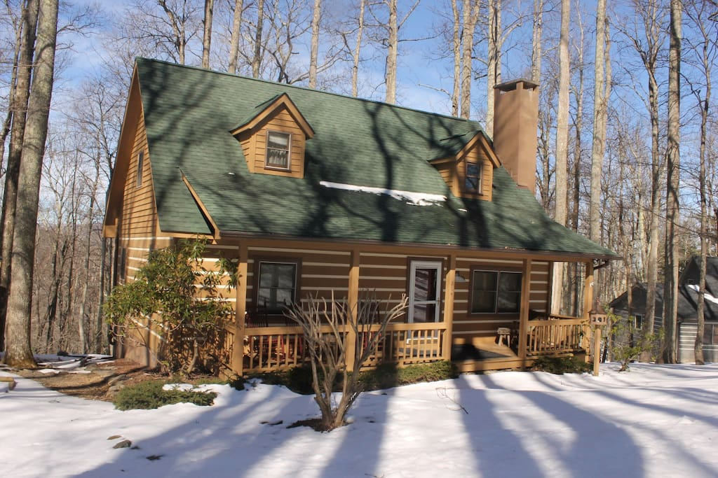 Blowing rock 3 br log cabin near tweetsie rr asu for Boone ski cabin rentals