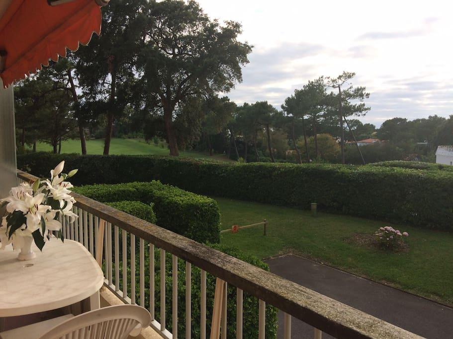 balcon sur le golf