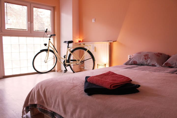 Air bed and bicycle garage