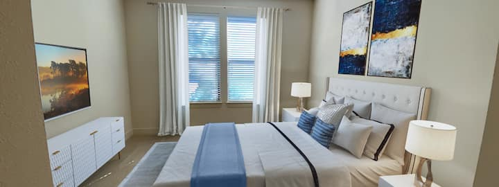 Clean Warm 1BD with Washer/Dryer in Galleria Area